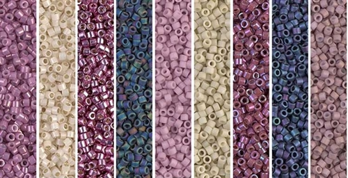 Lilac Gold Monday - Exclusive Mix of Miyuki Delica Seed Beads
