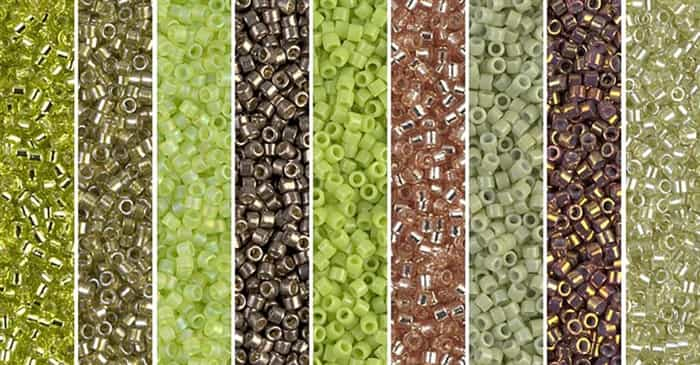 Lime Punch Monday - Exclusive Mix of Miyuki Delica Seed Beads