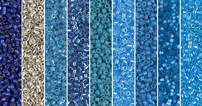 Little Boy Blue Monday - Exclusive Mix of Miyuki Delica Seed Beads