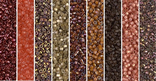 Marsala Monday - Exclusive Mix of Miyuki Delica Seed Beads