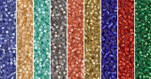 Matte Silver Lining Monday - Exclusive Mix of Miyuki Delica Seed Beads