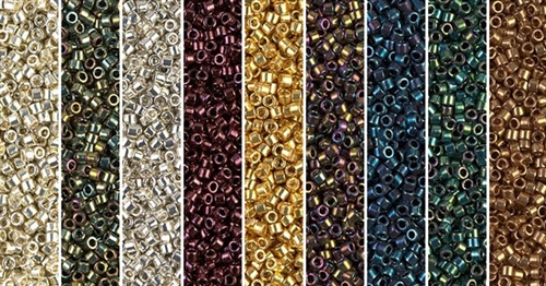Metallic Monday - Exclusive Mix of Miyuki Delica Seed Beads