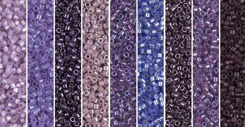 Metallic Amethyst Monday - Exclusive Mix of Miyuki Delica Seed Beads