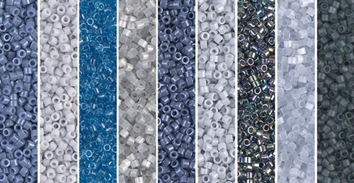 Misty Monday - Exclusive Mix of Miyuki Delica Seed Beads