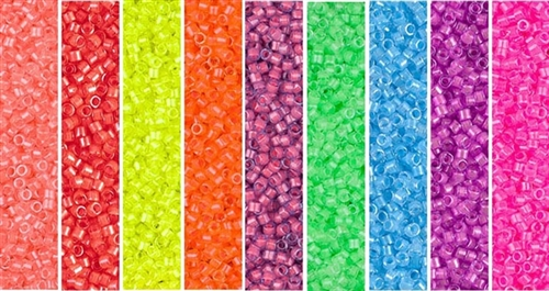 Neon Monday - Exclusive Mix of Miyuki Delica Seed Beads