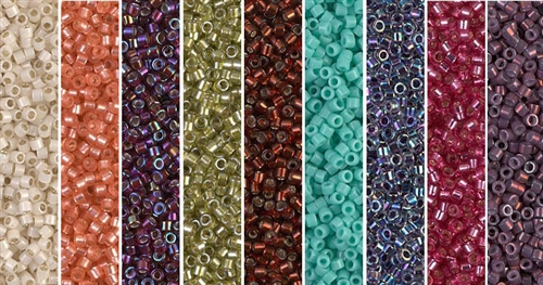 Netted Pearl Monday - Exclusive Mix of Miyuki Delica Seed Beads