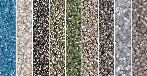 Neutral Gray Monday - Exclusive Mix of Miyuki Delica Seed Beads