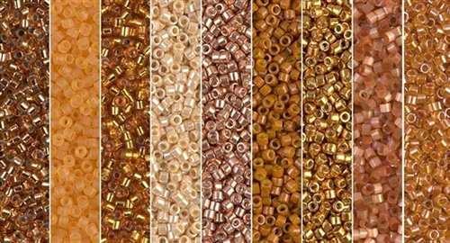 Oak Buff Monday - Exclusive Mix of Miyuki Delica Seed Beads