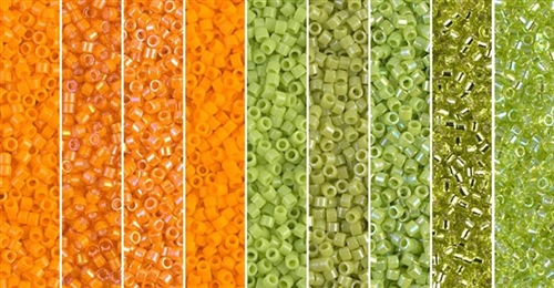 Orange Limeade Monday - Exclusive Mix of Miyuki Delica Seed Beads