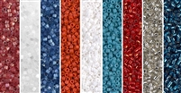 Patriotic Monday - Exclusive Mix of Miyuki Delica Seed Beads