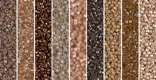 Picasso Umber Monday - Exclusive Mix of Miyuki Delica Seed Beads