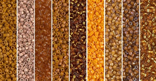 Pumpkin Spice Monday - Exclusive Mix of Miyuki Delica Seed Beads