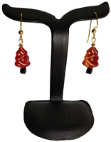 Red Panda Beads Ruby Christmas Tree Earrings Kit