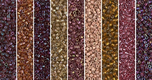 Red Hot Monday - Exclusive Mix of Miyuki Delica Seed Beads