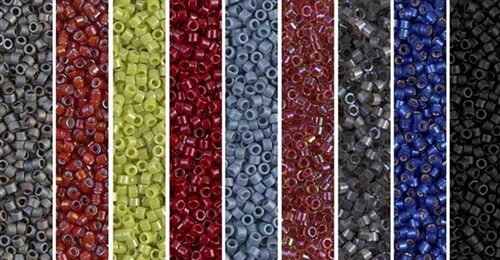Red Picasso Monday - Exclusive Mix of Miyuki Delica Seed Beads