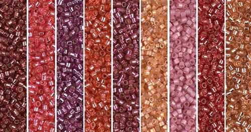 Rosette Monday - Exclusive Mix of Miyuki Delica Seed Beads