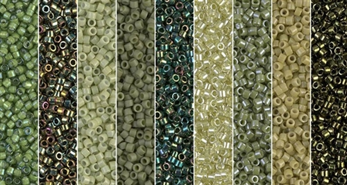 Scarabaeus Green Monday - Exclusive Mix of Miyuki Delica Seed Beads
