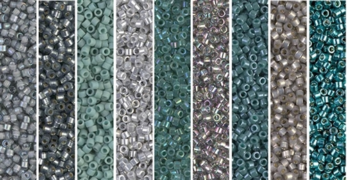 Sea Foam Monday - Exclusive Mix of Miyuki Delica Seed Beads