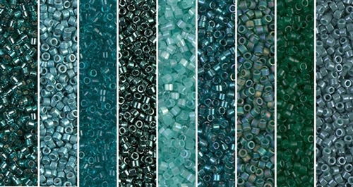 Shaded Spruce Monday - Exclusive Mix of Miyuki Delica Seed Beads