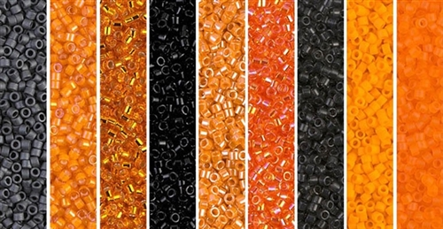 Spooky Monday - Exclusive Mix of Miyuki Delica Seed Beads