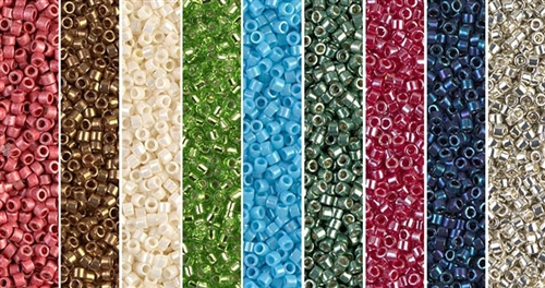 Stacked Crescent Monday - Exclusive Mix of Miyuki Delica Seed Beads
