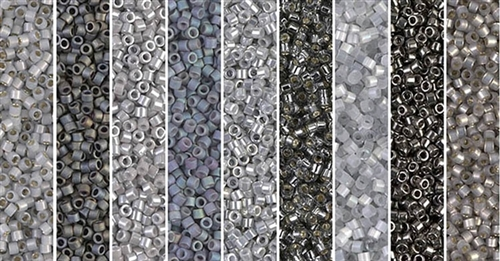 Stormy Weather Monday - Exclusive Mix of Miyuki Delica Seed Beads