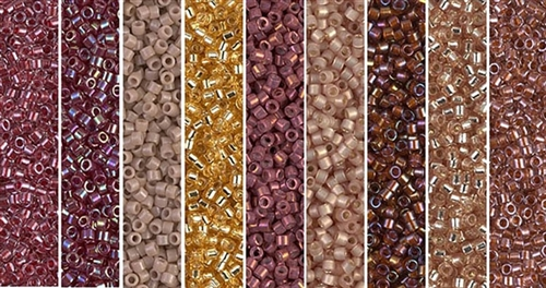Tawny Port Monday - Exclusive Mix of Miyuki Delica Seed Beads