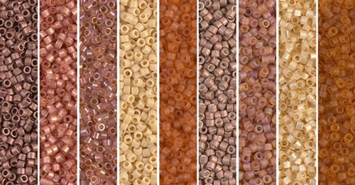 Terra Cotta Monday - Exclusive Mix of Miyuki Delica Seed Beads