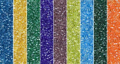 Transparent Luster Monday - Exclusive Mix of Miyuki Delica Seed Beads