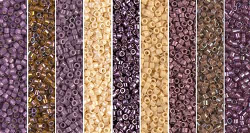 Ultra Violet Monday - Exclusive Mix of Miyuki Delica Seed Beads
