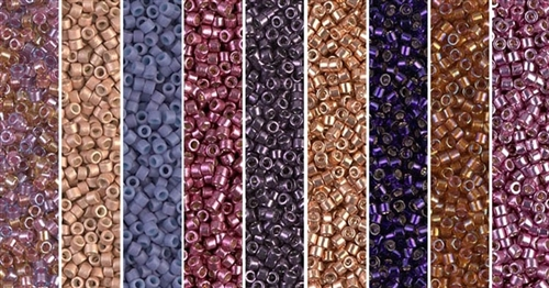 Violette en Cuivre Monday - Exclusive Mix of Miyuki Delica Seed Beads