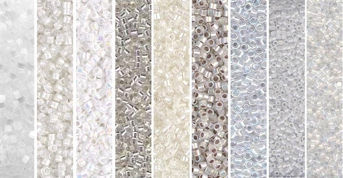 White Monday - Exclusive Mix of Miyuki Delica Seed Beads