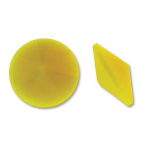 Matubo 18mm Rivoli - RV018OPYEL Opaque Yellow - 1 Rivoli