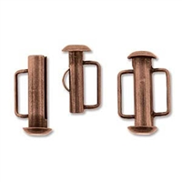 SBC165AC - Antique Copper Slide Bar Clasp - 16.5mm