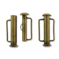 SBC215AB - Antique Brass Slide Bar Clasp - 21.5mm