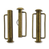 SBC265AB - Antique Brass Slide Bar Clasp - 26.5mm