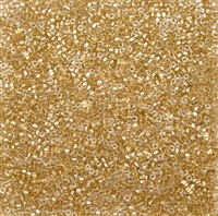 Miyuki Square 1.8MM Beads SBS0234 ICL Clear/Gold