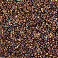 Miyuki Square 1.8MM Beads SBS0462 MR Gold/Violet/Green
