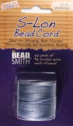77 Yard Spool Knotting Cord Macrame Superlon Bead Cord TEX210 Hyacinth SLBC-HY S-Lon Bead Cord Kumihimo Braiding Cord