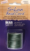 S-Lon Bead Cord - 77 Yard Spool - Cerey Green