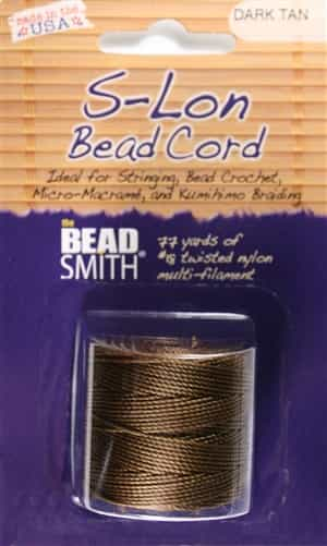 S-Lon Bead Cord - 77 Yard Spool - Dark Tan