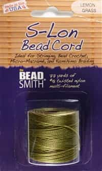S-Lon Bead Cord - 77 Yard Spool - Lemongrass