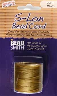S-Lon Bead Cord - 77 Yard Spool - Light Maize
