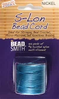 S-Lon Bead Cord - 77 Yard Spool - Nickel