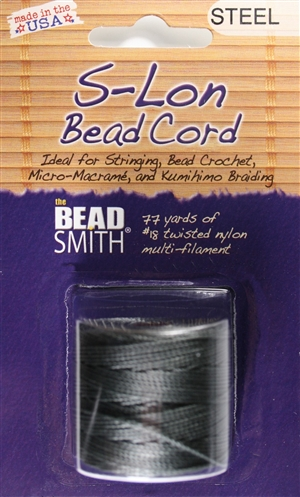 S-Lon Bead Cord - 77 Yard Spool - Steel