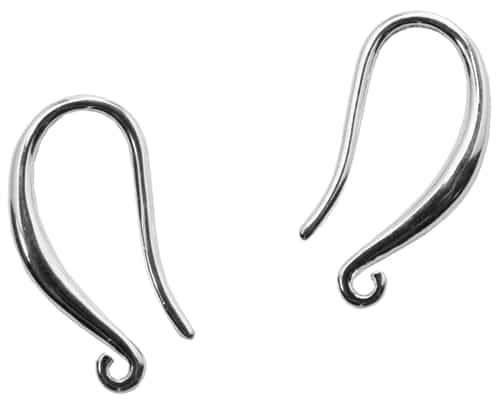 SPB18MMFOL - Silver Plated Brass 18mm Fishhook Earwires with Open Loop - 1 Pair