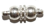 Silver Plated Round Ball Magnetic Clasp
