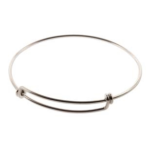 Sterling Silver 8 Inch Oval Bangle 1.65mm - Sold Individually
