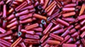 Toho Bugle Beads #2 6mm : TB02-332 - Gold-Lustered Raspberry - 10 Grams