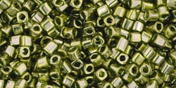 TC01-457 - Toho 1.5mm Cube - Gold-Lustered Green Tea - 5 Grams